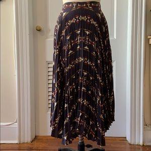 Pendleton Portland collection pleated silk skirt